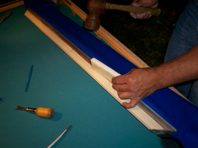 refelting your pool table's cushions