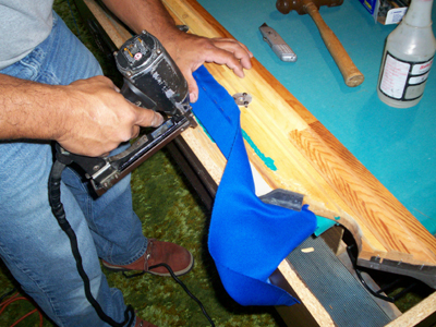 replacing the felt on your pool table rails