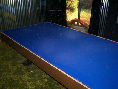 Refelting a Pool Table