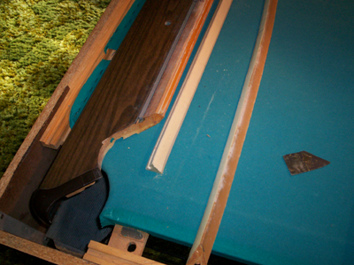Replace Pool Table Cushions (and Refelt)