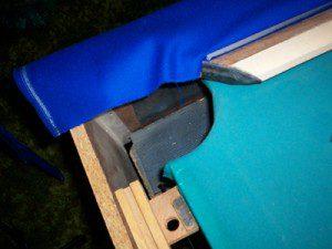 Refelting around pool table pockets