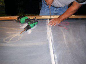 Slate repair and leveling
