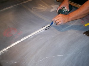 Leveling Pool Table Slate at the joints